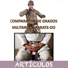 Comparativa de grados militares & Karate-Do